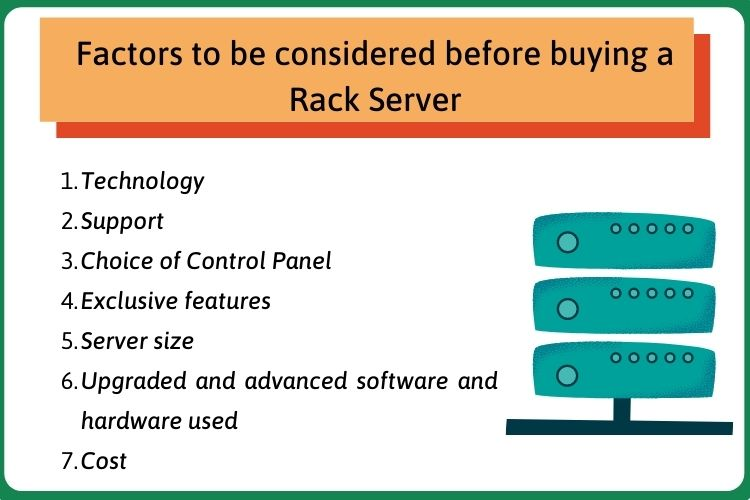 Factors to be considered before buying a rack server