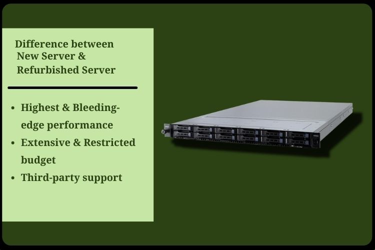 Difference between New Server and Refurbished Server