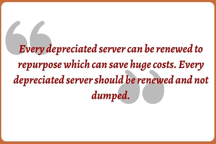 Server Recycling: the End of the Line