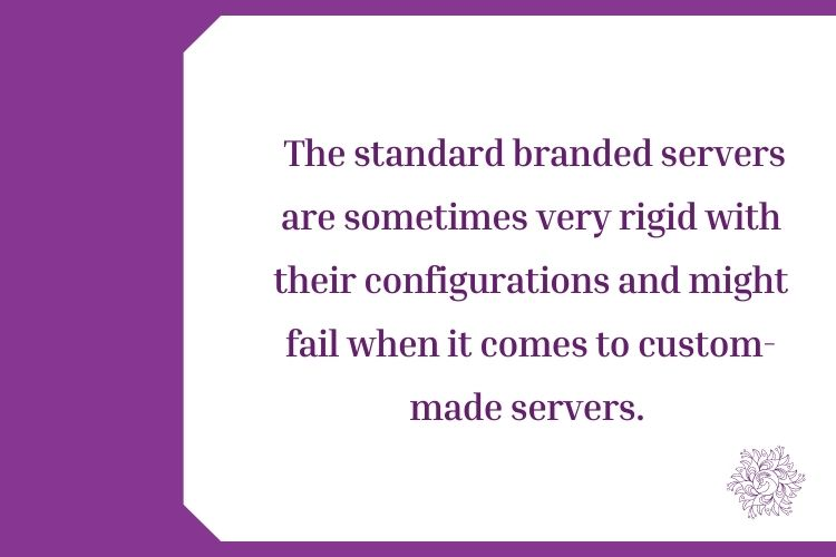 """Is the """"Brand"""" suggesting you a high-end server that is not useful for your Organization"""